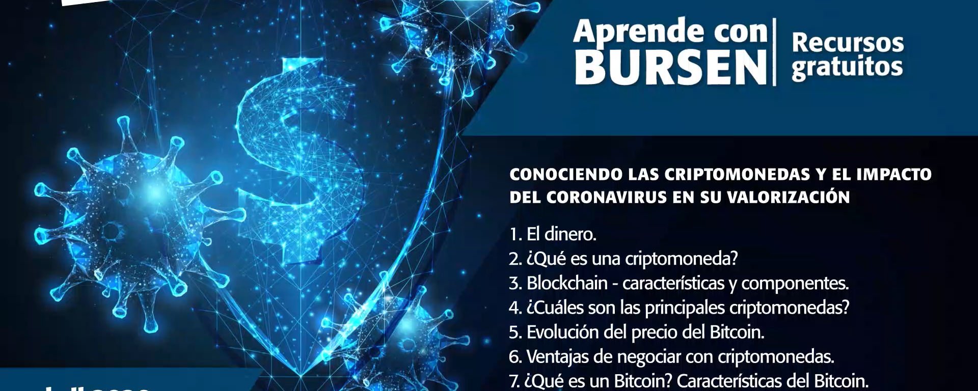 """Open BURSEN-Charla Gratuita: """"Conociendo las Criptomonedas y el impacto del Coronavirus en su valorización"""""""
